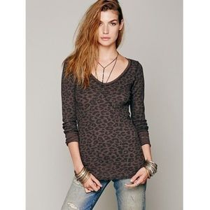 Free People We The Free Purple Leopard Thermal